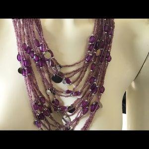 Jewelry - Beaded boho necklace multi-strand